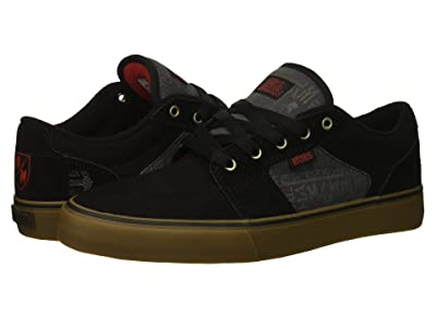 etnies Barge LS x Metal Mulisha (Black/Dark Grey/Gum) Men
