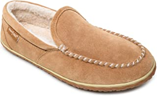 Minnetonka Men's Tilden Moccasin Suede Indoor and Outdoor Slippers