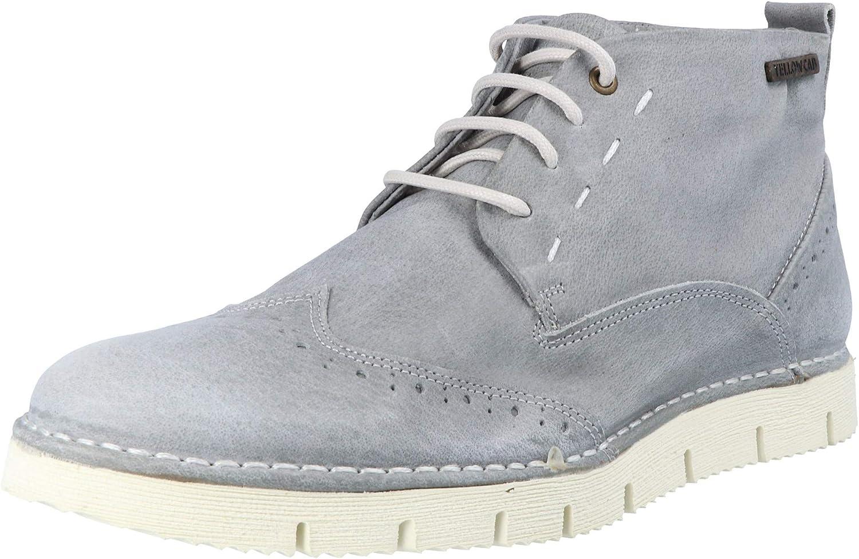 Yellow Cab Crispy M Y15403 Men's Lace-Up Flats Grey