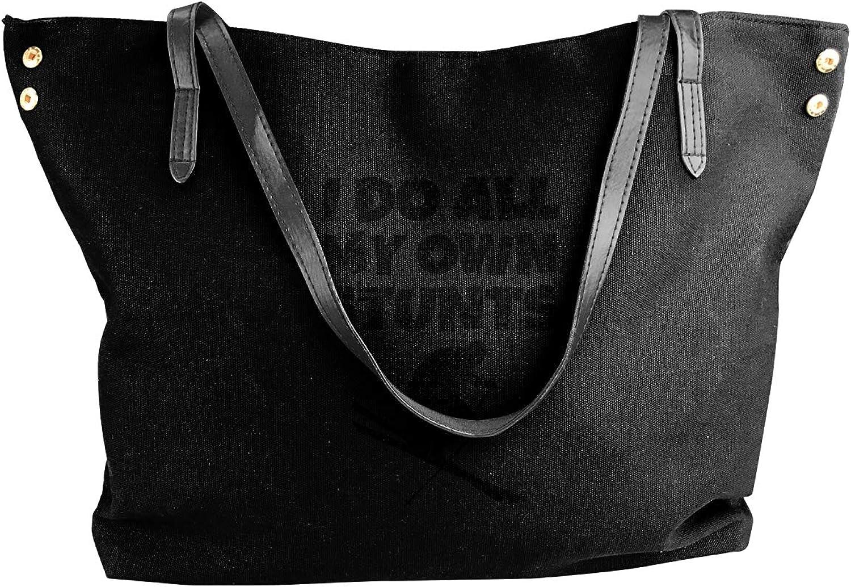 I Do All My Own Stunts Womens Tote Bags Canvas Shoulder Handbags Satchel Bag