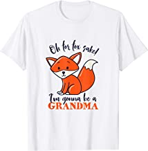 I'm Gonna Be A Grandma Fox T-shirt Funny Baby Announcement