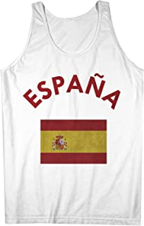 Espana Spain Spanish Flag 男性用 Tank Top Sleeveless Shirt