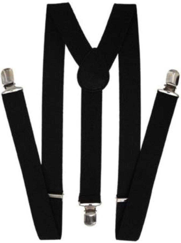Solid Black Suspenders Gothic Emo Punk Rocker Unisex