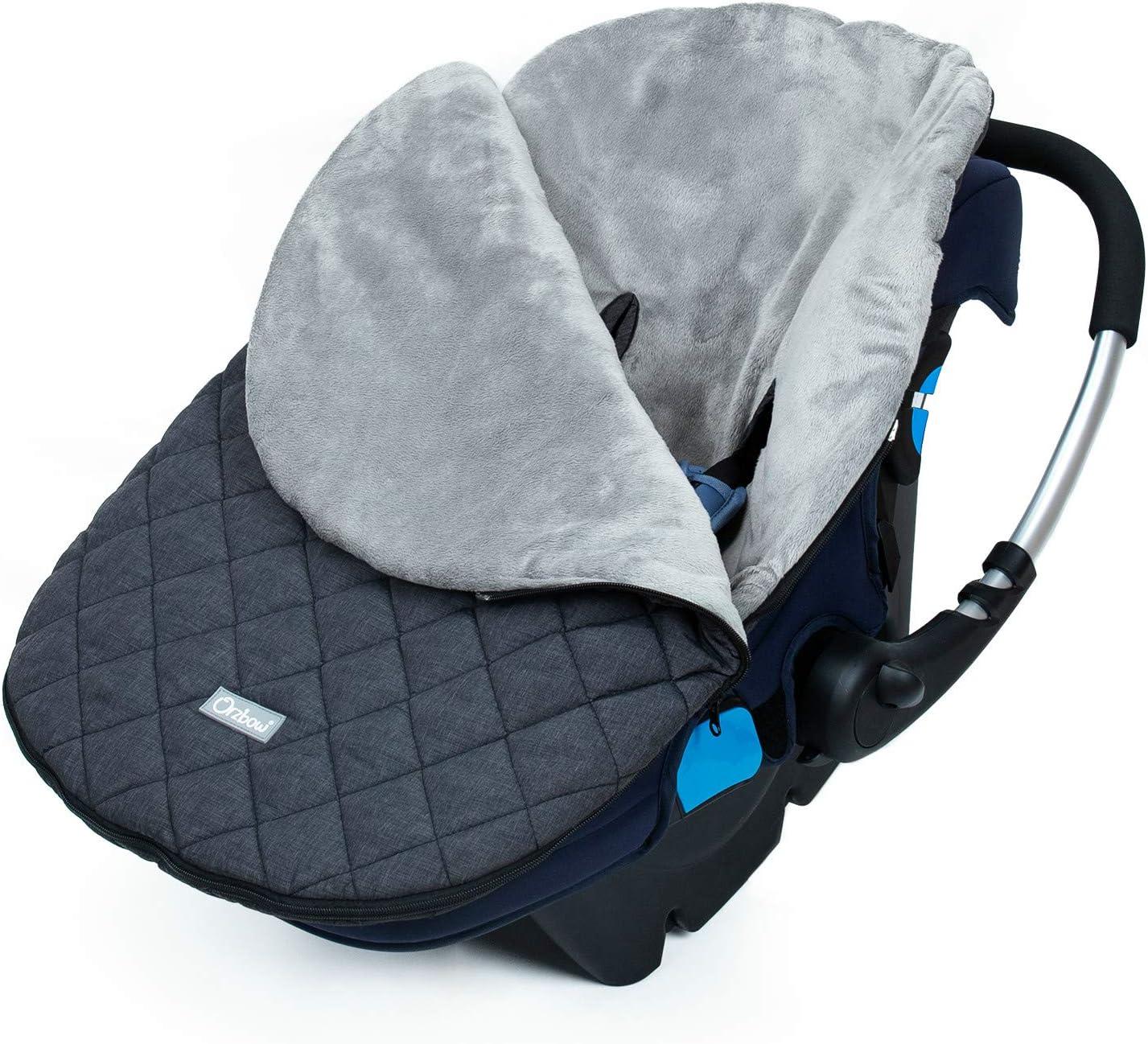 Orzbow Saco Capazo Bebe Universal,Mantas para Bebes Recien Nacidos,Saco de Dormir Invierno para Niñas o Niños de 0 a 12 Meses (gris Oscuro)