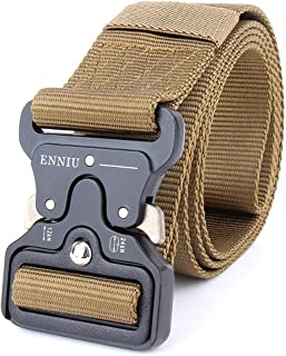 """Tactical Belt 1.75"""" Tactical Heavy Duty Waist Belt Quick-Release Military Style Shooters Nylon Belts with Metal Buckle"""