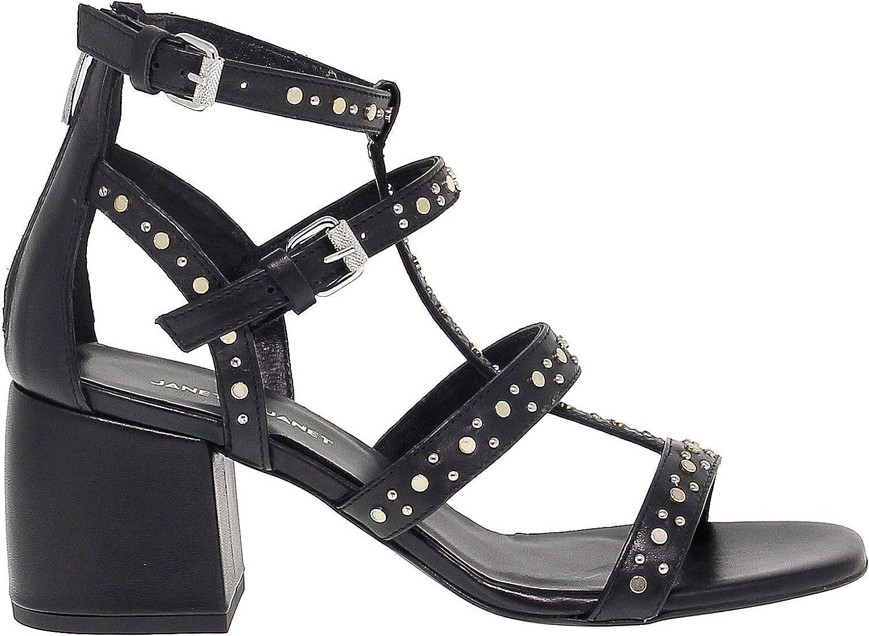 JANET &JANET &JANET &JANET Woherrar 43300000001 svart läder Sandals  begränsa köp