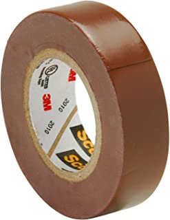 Scotch Vinyl Color Coding Electrical Tape 35, 1/2 in x 20 ft, Brown