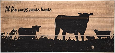 Foreside FWAD04177 Cows Come Home Wall Art