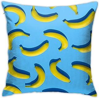 Bananas Throw Pillow Cover 18X18, Double Side Design Bolster Pillowcase, Decorative Cushion Pillow Case for Car Sofa Theme Brithday Party Bedroom Decor Kid Girls Boys