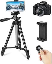 LONK Trípode para Celular Cámara 106cm/42'', Trípode Celular Fotográfica Soporte de Video Selfie Vlog con Remoto Bluetooth, Trípode Gopro para iPhone Huawei Samsung Cámara DSLR Canon Sony Nikon