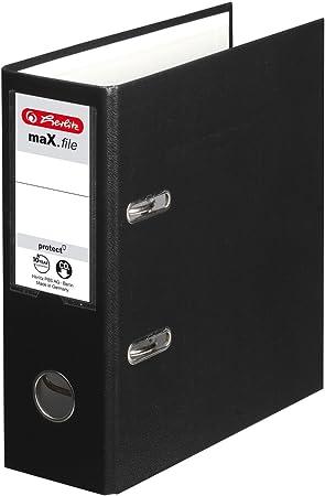 Black A5 Lever Arch File Upright Herlitz Ring Binder File Document Organiser