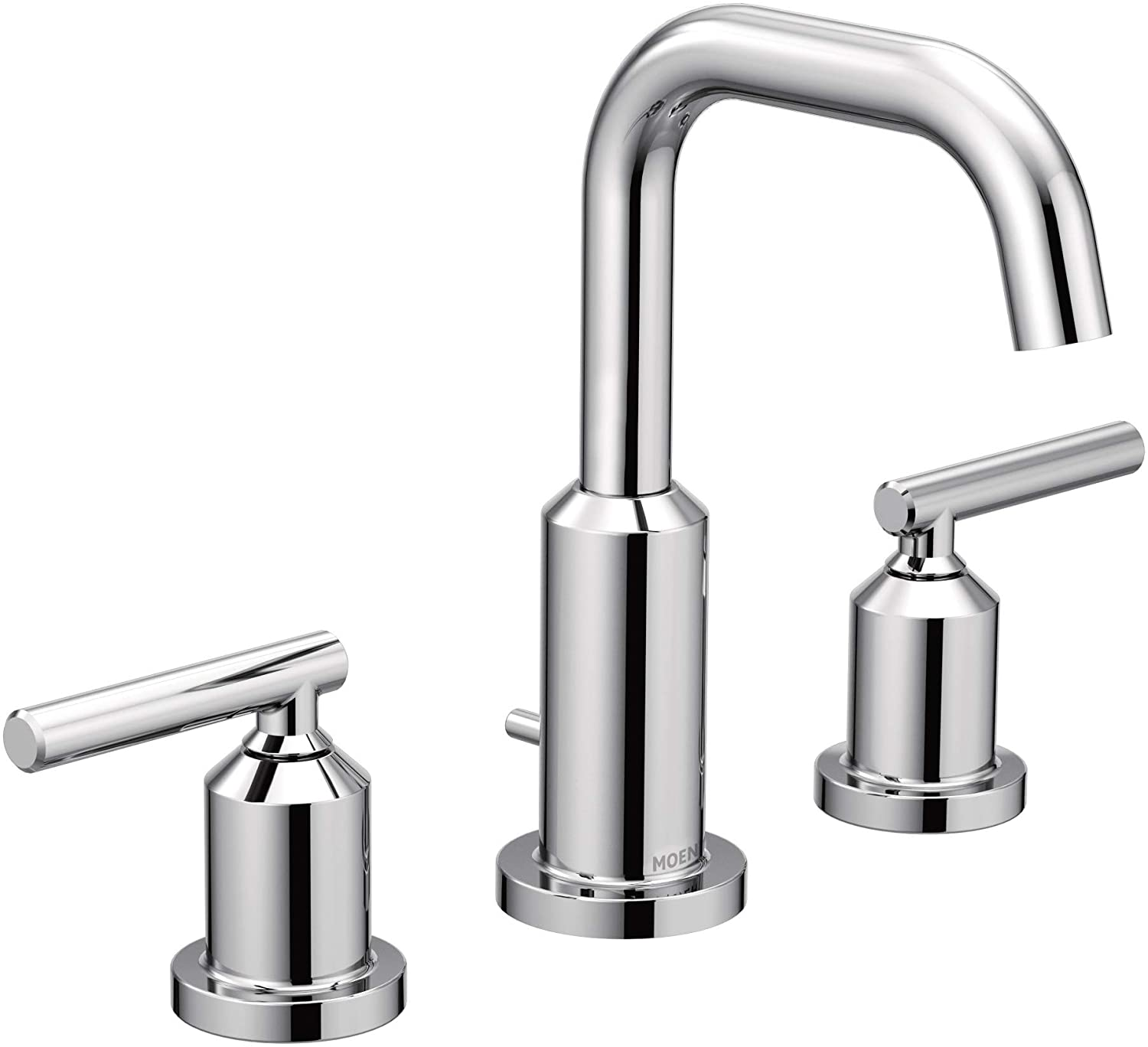 Moen T6142 Gibson Two Handle 8 Inch Widespread High Arc Modern Bathroom Sink Faucet Valve Required Chrome Amazon Com