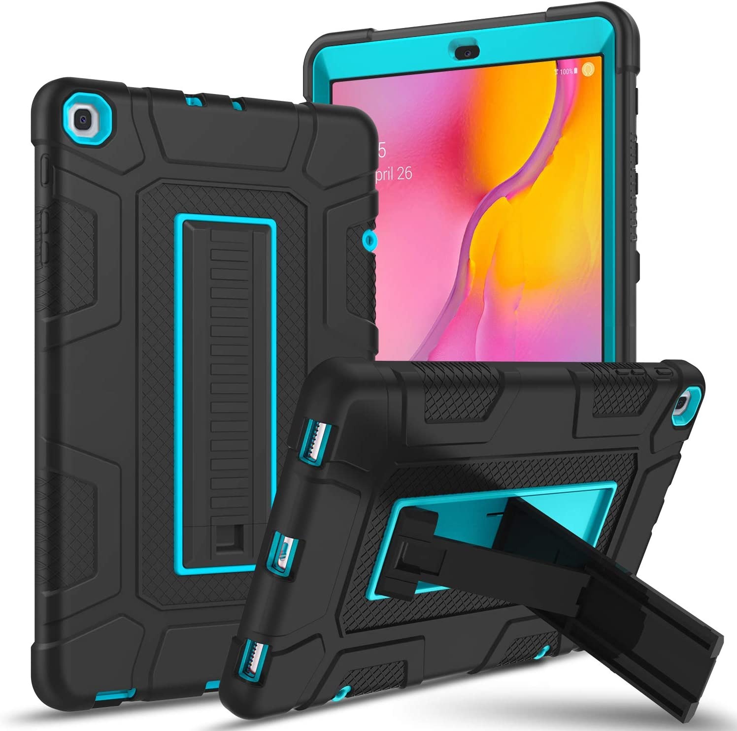 Galaxy Tab A 10.1 2019 Case unisex SM-T510 Kickstand 1 T515 Over item handling ☆ GUAGUA in 3