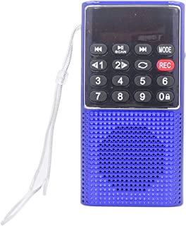 Iycorish L-328 Portable Pocket FM Auto Scan Radio Music Audio MP3 Player Outdoor Small Speaker with Voice Recorder(Blue)
