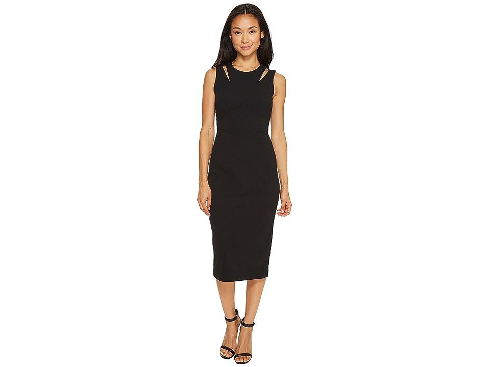 Calvin Klein Shoulder Cut Out Sheath Dress (Black) Women