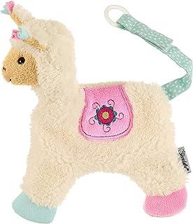 Sterntaler Schmushandduk gosig zoo, lama lotte, ålder: För spädbarn från 1 månaden, storlek: 20 cm, färg: Vit/rosa