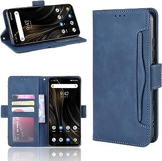 UMIDIGI Power3 ケース手帳型 PUレザー素材 YEZHU 全面保護・カード収納・横置き機能対応 手触り良い 耐衝撃 滑り落ちにくい 指紋防止携帯 カバー(UMIDIGI Power 3ケース ブルー)