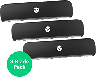 Vremi 3 Pack Replacement Blades for Back Shaver Body Groomer - Easy Replaceable and Extra Wide Safety Blade for Personal Painless Hair Shavers - Manual Cordless Hair Remover for Men - Wet or Dry Shave