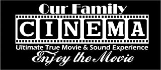 """Walls with Style Cinema Decal Ultimate True Movie & Sound Experience Enjoy The Movie (White, Large 39"""" by 18"""")"""