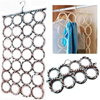 MYBHD Encyclopétrage Multi Foulards Affichage Suspendre la ceinture Courreuse Organiser le cercle Storage Storage Foulard ...