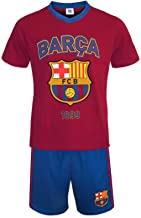 FC Barcelona Official Soccer Gift Mens Loungewear Short Pajamas