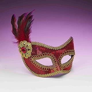 Forum Novelties Unisex-Adults Sequin Fashion Mask, Standard, Red
