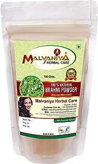 100% Natural Brahmi Leaves (BACOPA MONNIERI) Powder for COMPLETE HAIR CARE NATURALLY (100 gm (0.22 lb) 3.5 ounces)