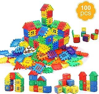 MICHLEY Building Blocks, Classic Construction Toy for Kids, 100 pcs Builder Bricks Preschool Building Sets for Children