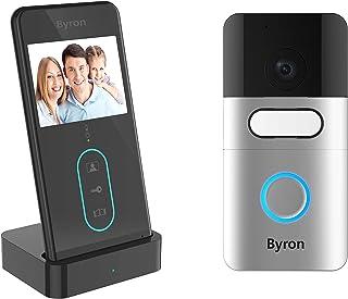 Visiophone sans fil Byron DIC-24615 - Portée 150 m - Écran 3 pouces - Communication bidirectionnelle