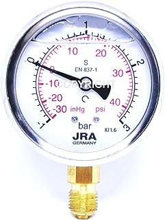 """JRA-Longlife Manómetro de glicerina -1/+3 bar Conexión diámetro 63, inferior G1/4"""""""