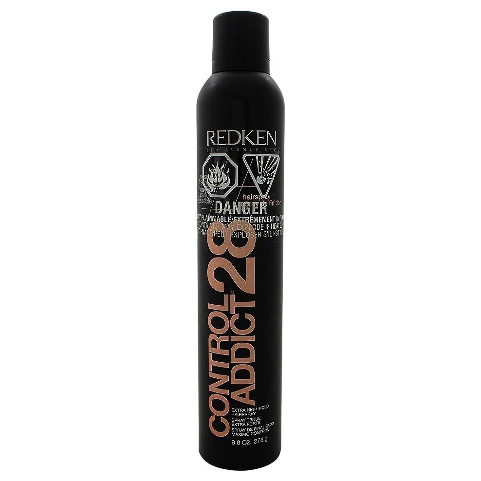 バラ色意識的にじみ出るby Redken CONTROL ADDICT 28 EXTRA-HIGH HOLD HAIR SPRAY 9.8 OZ(BLACK PACKAGING) by REDKEN