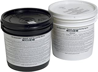 PC Products PC-Concrete Epoxy Adhesive Paste for Anchoring and Crack Repair, Two-Part 102oz in Two Pails, Gray 71021