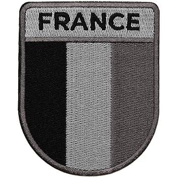 Patch brod/é 8x3 cm France ribbon