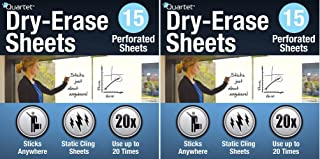 Quartet Dry Erase Sheets, 24-inch x 31 1/2-inch (85563) (Pack of 2)