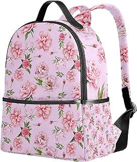 ユサキ(USAKI) リュック リュックサック 通学 花柄 牡丹 和柄 ピンク