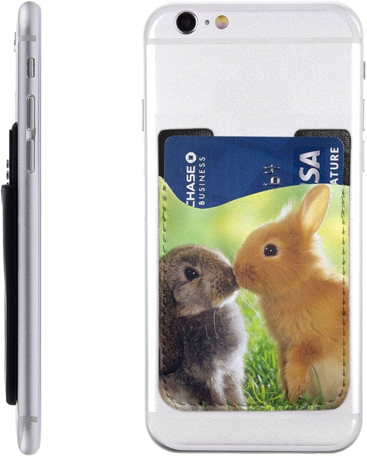 Rabbit Love Max 82% OFF Phone Card Holder Wallet Cell On Stick Special sale item Sl