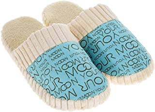 AHOMI Unisex Warm Soft Anti-Slip Letter Cotton Slipper Shoes for Women Dressing up