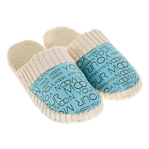116a1edcbf Zibuyu Unisex Warm Soft Anti-Slip Letter Cotton Slipper Shoes Pink Women Men