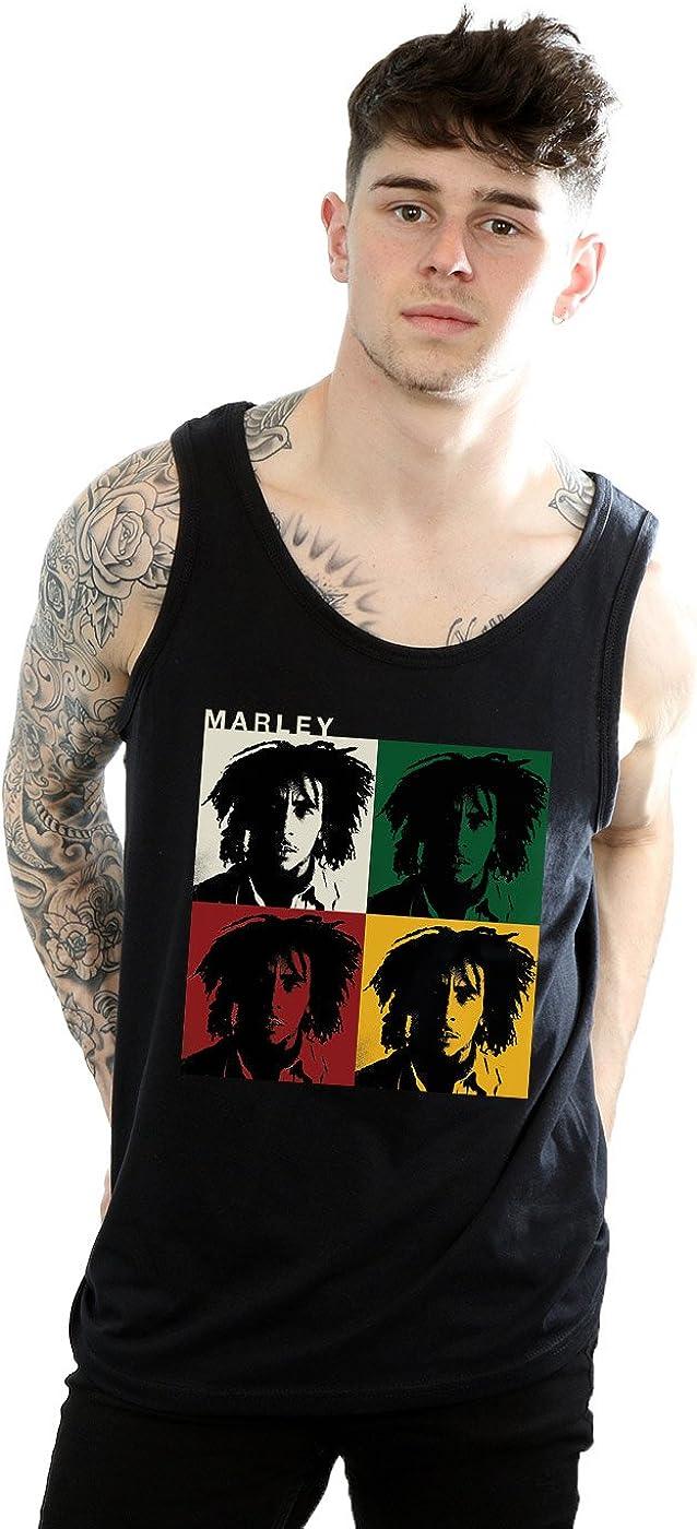 Bob Marley Hombre Colour Blocks Tank Top: Amazon.es: Ropa y ...