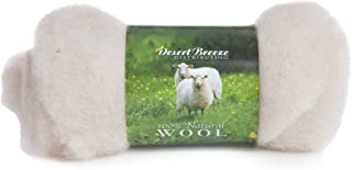 Maori Wool - A Special Blend of New Zealand Wools by DHG for Needle Felting and Wet Felting, 1 OZ Carded Wool Batt, 100% Pure Wool, Color Sand