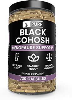 Pure Black Cohosh (730 Capsules) Natural Herbal Supplement, Non-GMO, Made in USA (800 mg Serving)