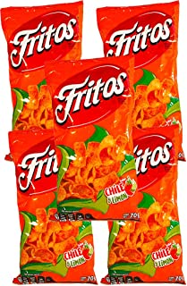FRITOS CHILE Y LIMÓN 70g (Box with 5 bags)