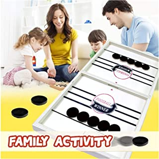 Table Game Toy , Catapult Chess Bumper Chess Parent-Child Interactive Game Battle Desktop Hockey Table Ice Child Toys,Great Gift for Children's Day, Suitable for Kndergarten and Families