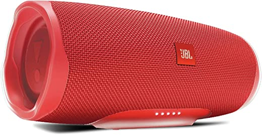 JBL Charge 4 by Harman Powerful Portable Bluetooth Speaker with Upto 20 Hours Playtime, Built-in 7500 mAh Powerbank & IPX7 Waterproof (Without Mic, Red)