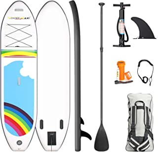 """Wonder Maxi Inflatable Stand Up Paddle Board, 10'6"""" x 30"""" x 6"""" Non-Slip Deck Paddleboard with Premium SUP Accessories Dura..."""