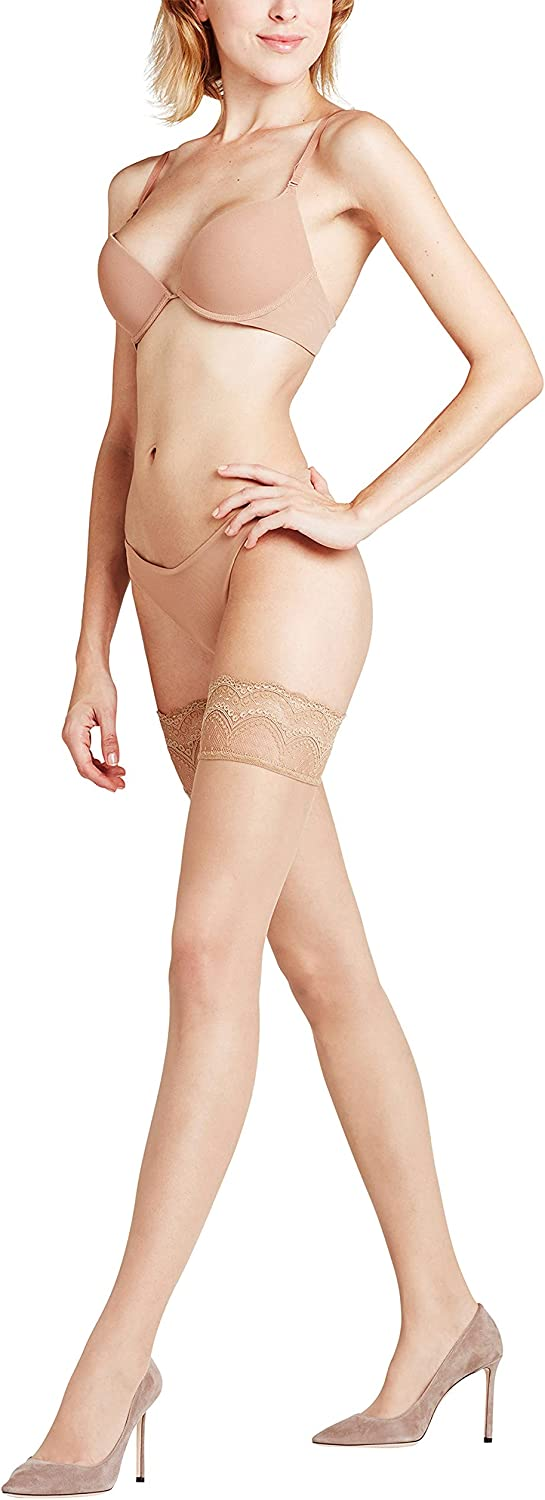 FALKE Womens Invisible Deluxe Stay Ups Ultra Daily bargain sale Super-cheap Denier Sheer Beig 8