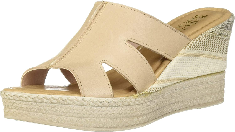 Bella Vita Womens Rox- Slide Sandal Wedge Sandal
