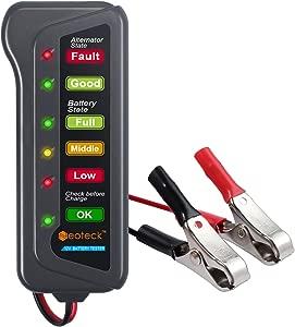 Neoteck PW020 Battery 12V LED Lights Digital  Multi Functions Tester for Car Motorcycle Alternator