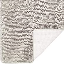DEARTOWN Non-Slip Thick Microfiber Bathroom Rugs, Machine-Washable Bath Mats Water Absorbent (27.5x47 Inches, Beige)