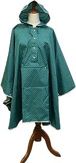 レインコート ポケッタブルポンチョ 着丈90cm グリーン (フリーサイズ) R-1043